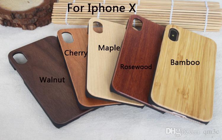 Para iphone x xs max 8 caixa de madeira iphone 7 6 6 s além de telefone celular shell shookproof tampa do telefone de madeira de bambu para samsung s8 s7 s10 nota 8