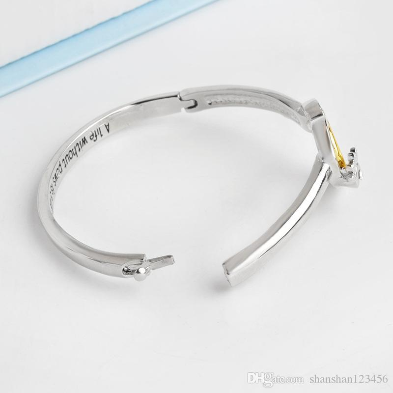 """A life without paws,is a life without love"""" Crystal Paw Print Heart Bangle Bracelet Pet Memorial Dog Lover Gift Heart Charm Bracelet 162282"""