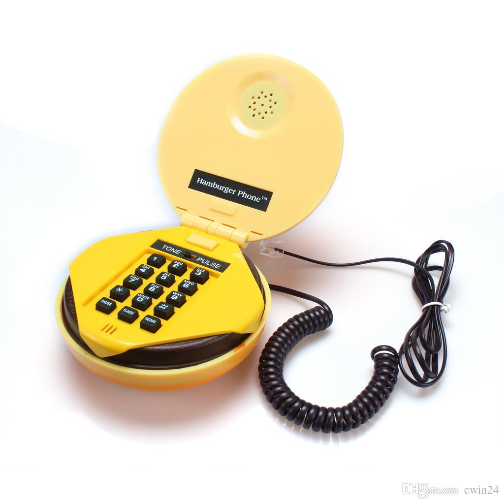 Lovelty милый телефон телефон домашний рабочий стол проводные гамбургер яркий гамбургер форма телефона телефон новый бренд, продается EWIN24