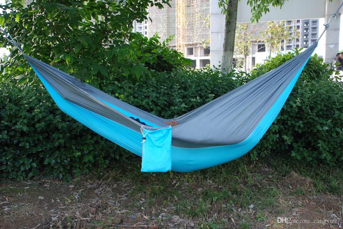 2018 Camping Hammock Garden Hammock Ultralight Nylon Parachute Hammock  Ultralight Garden Yard Beach From Zangyu07, $14.37 | Dhgate.Com