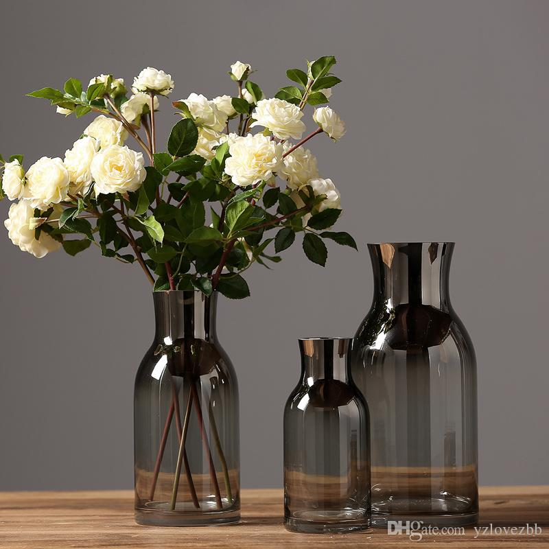 Modern Simple American Style Glass Flower Vase Home Furnishing