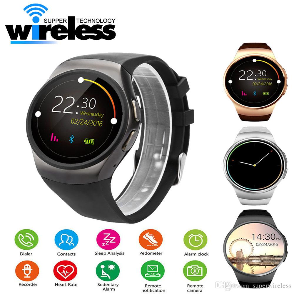 Excelvan KW18 Smart Watch Support Heart Rate Monitor SIM Card Message Push  Bluetooth Smartwatch Sports Clock for Android IOS