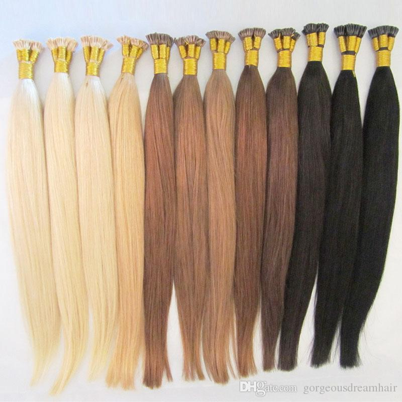 16 24 613 I Tip Hair Extensions Human Platinum Blonde Tangle Free I