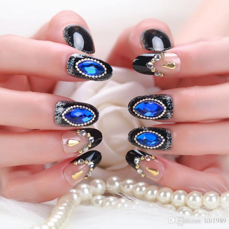 New Look Beautiful False Nails Patch Bride Nail Finished Bride Fake ...