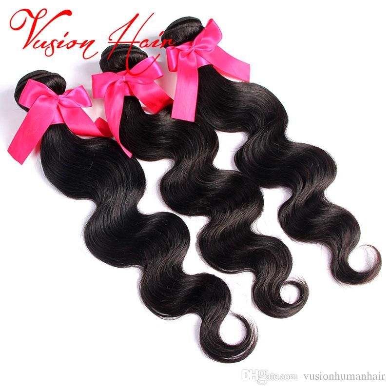 Brazilian Virgin Hair Bundles Body Wave Good Cheap Weaves Brazilian Human Hair Wet and Wavy Virgin Hair Weaves Natural Black Color