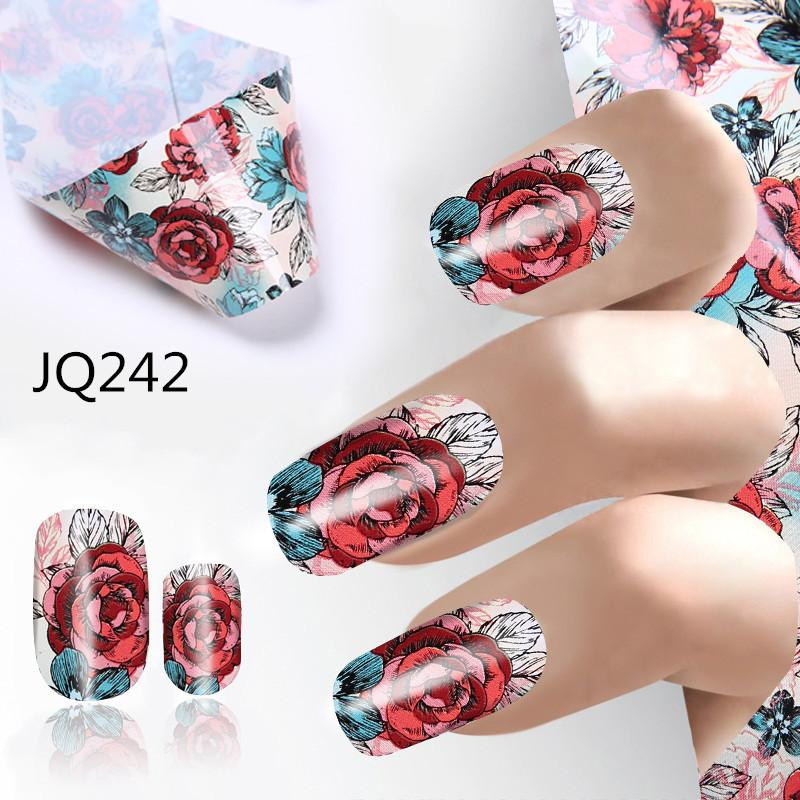 New Nail Art Sticker 4*100cm Butterfly Flower Stripe Lines Geometry ...
