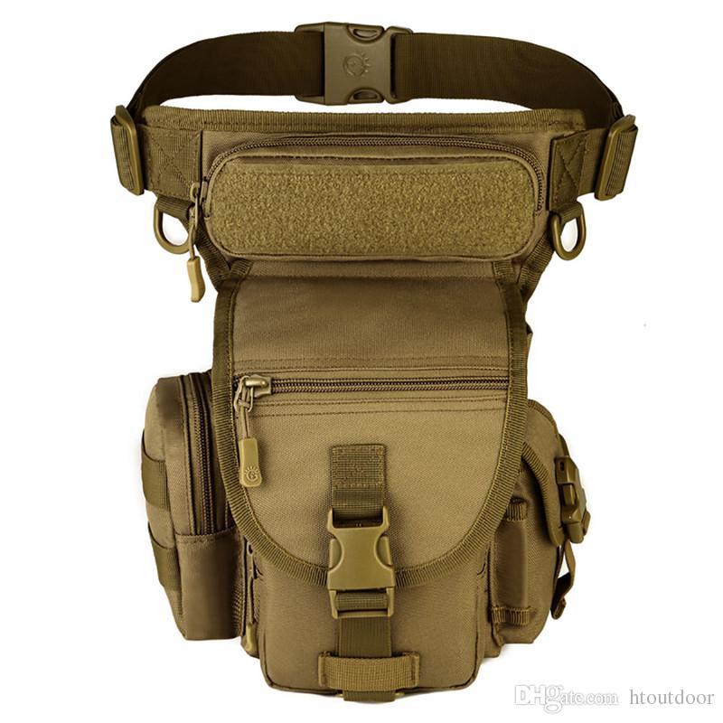 في الهواء الطلق للماء الساق فاني حقيبة نايلون الاعتداء التكتيكية الرجال الورك الخصر حزام حزمة إسقاط فائدة الخصر الحقيبة حقيبة