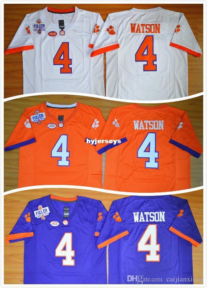 sale retailer b32fd ace4c Clemson Tigers DeShaun Watson 4 Diamant Quest College Football Jersey  Hommes Stitched Logo Maillot de haute qualité, Taille S-3XL, Peut Mixer