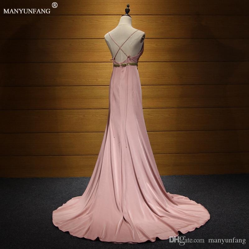 Vestidos fiesta 2020 vestidos de noche de los espaguetis de dama de vestidos baratos naranja vestido de noche largo del desgaste atractivo de la sirena de oro Fajas Prom Vestidos