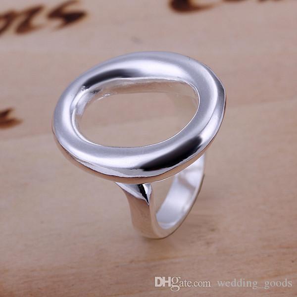 Heißer Verkauf Öffnung o Sterling Silber Schmuck Ring für Frauen WR008, Mode 925 Silber Bandringe