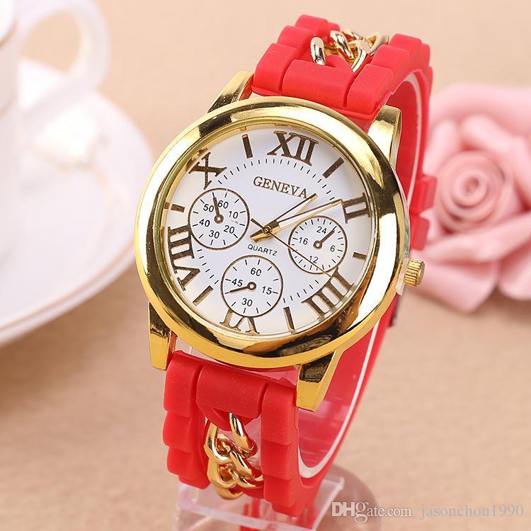 Chegada nova Big Sales Time Limited Assistir Estudantes do sexo feminino Estilo Coreano moda Doce Cor Casual Feminino Relógio De Quartzo Silicone Frete Grátis