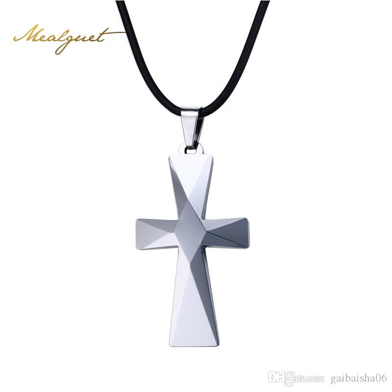Wholesale pmeaeguet man tungsten carbide chorker cross pendant wholesale pmeaeguet man tungsten carbide chorker cross pendant necklaces prism design with rope chain jewelry n 749 heart necklaces gold name necklace from aloadofball Image collections