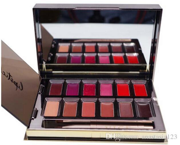 ¡En stock! Vice Lipstick es Lip Gloss Palette Cream Maquillaje de labios Cosmética de larga duración Edición limitada Paleta de brillo de labios gratis