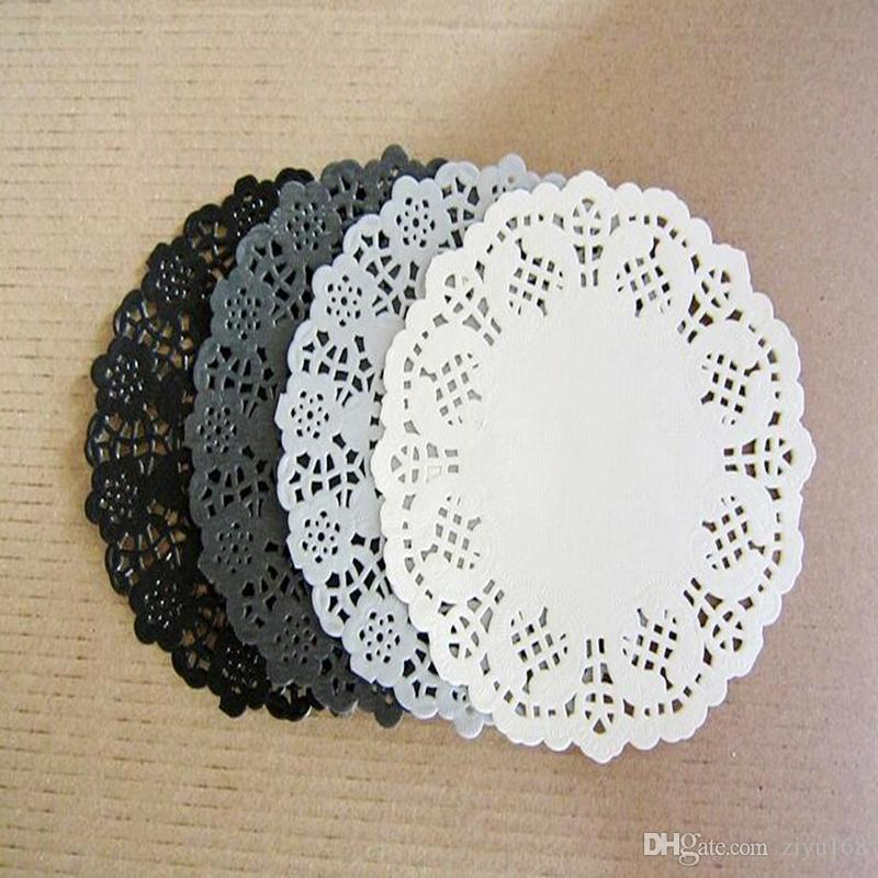 2018 4 5 Round Black Paper Lace Doilies Embossed Placemats From Ziyu168 29 13 Dhgate Com