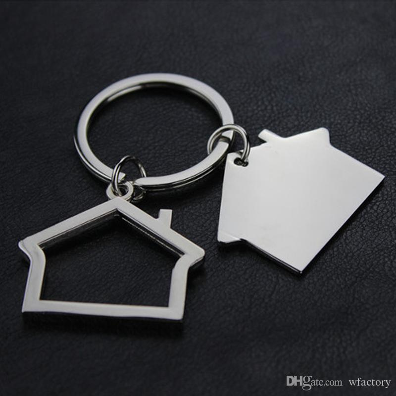 Metal House Shaped Model Keychains Keyring Alloy Keyrings Gifts ... f506835d1fac