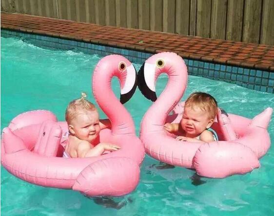 Pool Float Inflatable Flamingo Beach Children Swan Swim Ring Baby Animal Water Swimming Laps for Summer Swimming Inflatable Pool Toys