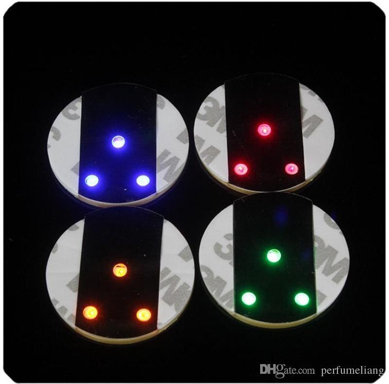 500 pz / lotto Spedizione Gratuita 45x3mm Bar Tazza LED Lampeggiante Luci Bottiglia Sticker Party Light Up Vino Mat Festa di Nozze Bellezza JF-555