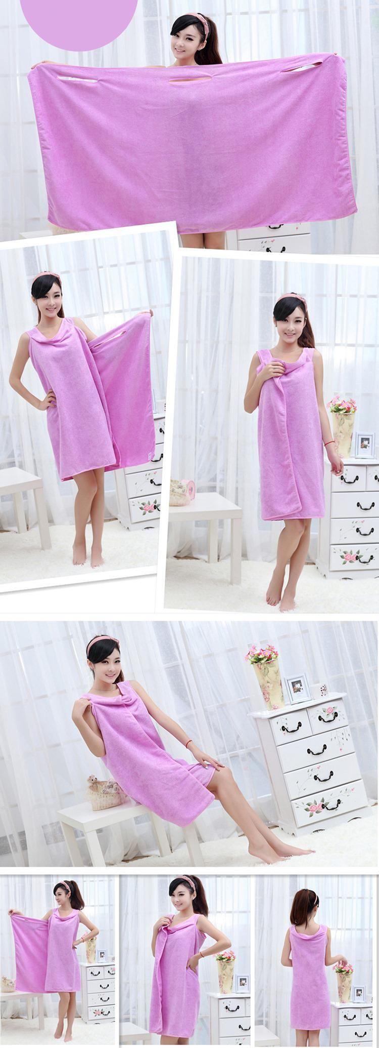 Magic Bath Towels Lady Girls Wearable Fast Drying Magic Bath Towel Robes Skirt SPA Shower Towel Body Wrap Bath Robe Bathrobe