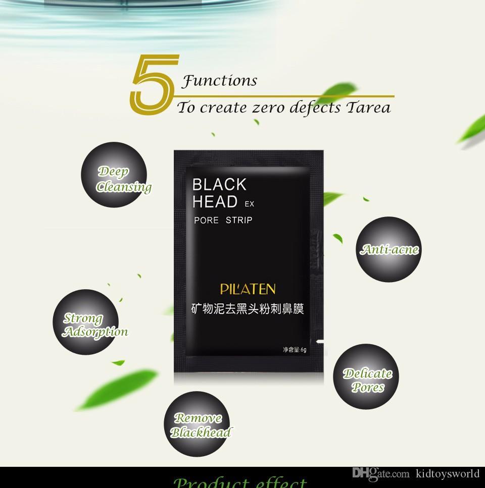 Siyah Soyulabilir Maske Mineral Çamur Burun Maskesi Siyah Nokta Kaldırma Gözenek Şeritler Temiz Cilt Akne Kaldır Yüz Maskesi Siyah Kafa