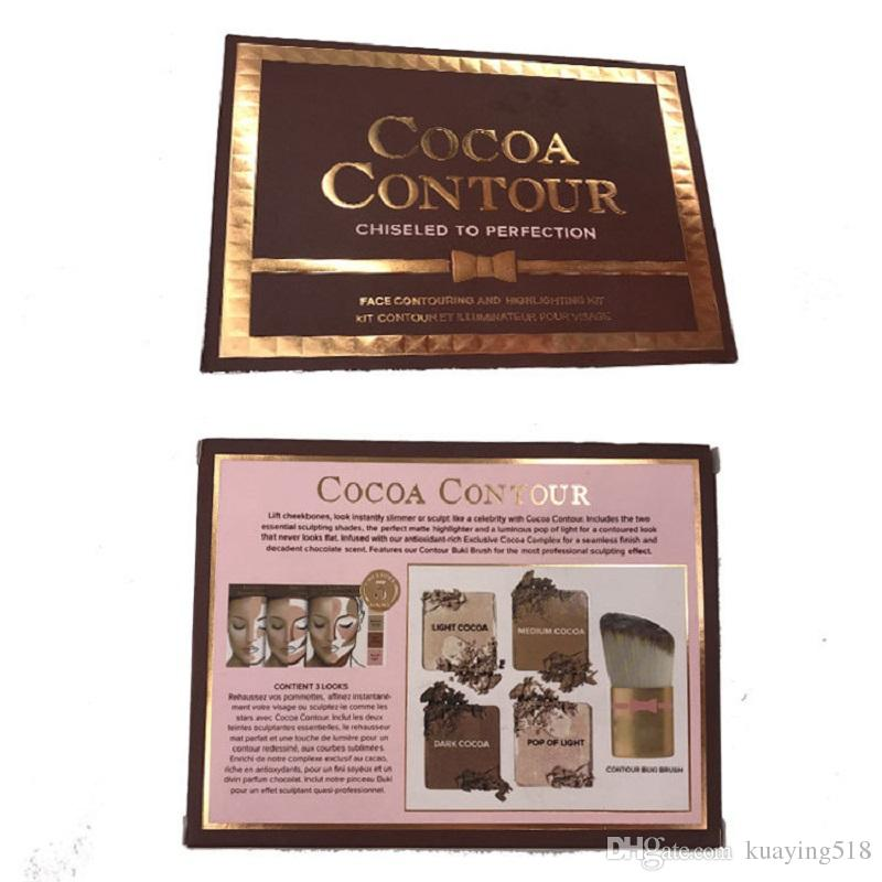 Новый какао контур Kit маркеры палитра обнаженная цвет косметики лица маскирующее макияж шоколад тени для век с контуром Буки кисти в наличии