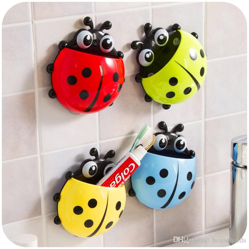 2017 Toothbrush Holders Cute Ladybug Insect Toothbrush Wall Suction Bathroom  Sets Cartoon Sucker Toothbrush Holder Suction Hooks UK 2019 From  Households a4ad16fd1d