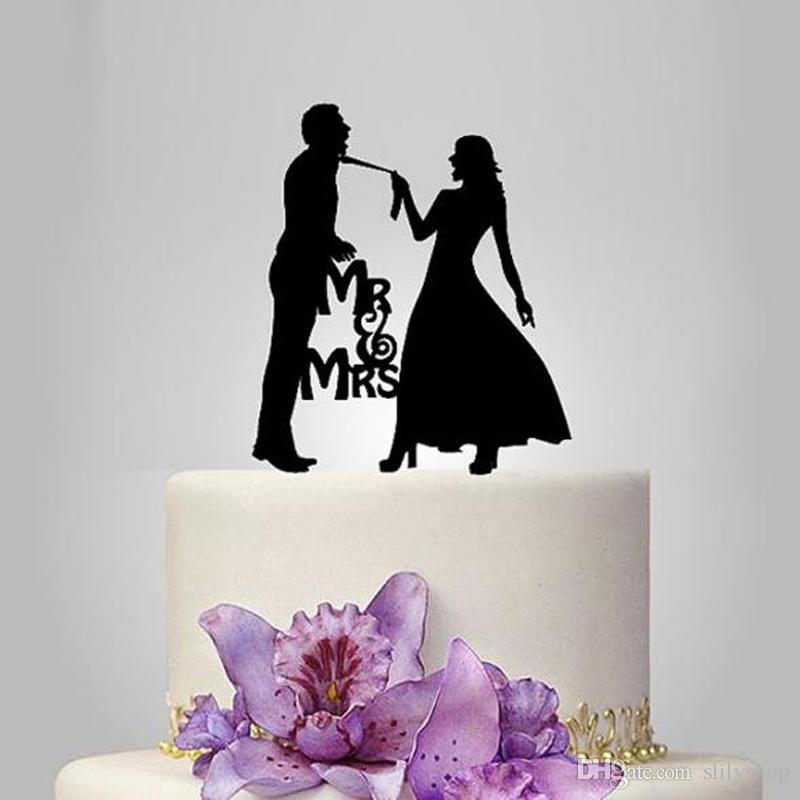 Wedding Mr Mrs Cake Toppers Acrylic cake topper bride groom Party Decoration Cake Accessory