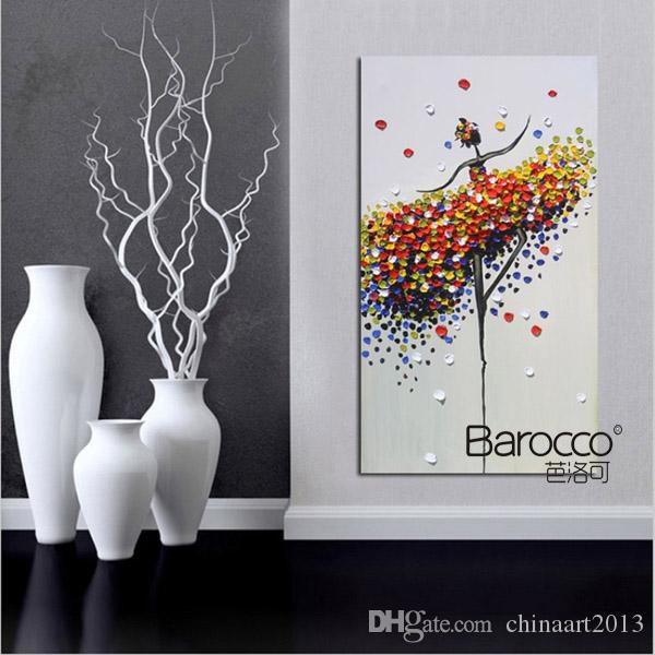 Балерина абстрактная картина маслом poure ручная роспись цифры живопись маслом на холсте современный дом стены искусства украшения подарок