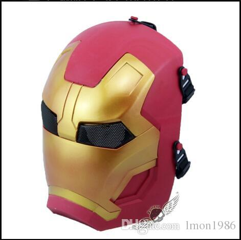 Top Grade Resin iron man masquerade ball park Halloween carnival Mask CS Game Cosplay Iron Man mask Free size