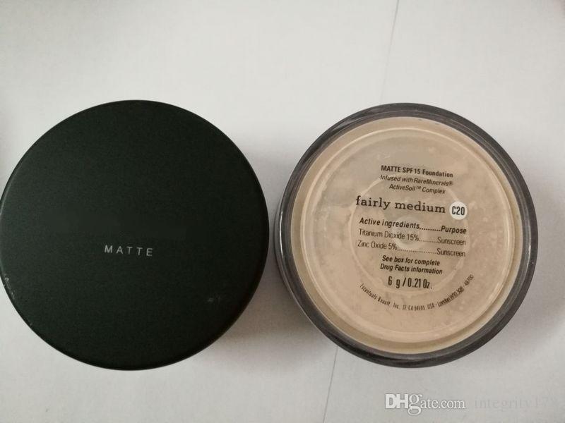 UK-Version 5 Farben Make-up Mineralien Pulver Original / MATTE Foundation Make-up-Pulver mit Kleinkasten DHL Verschiffen frei.
