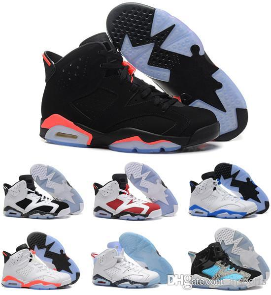 cheap new styles pay with paypal Women basketball shoes sneakers 6s 6 white infrared chrome sport blue Hare carmine red alternate Oreo cheap new basket ball with box ZRyT4XB