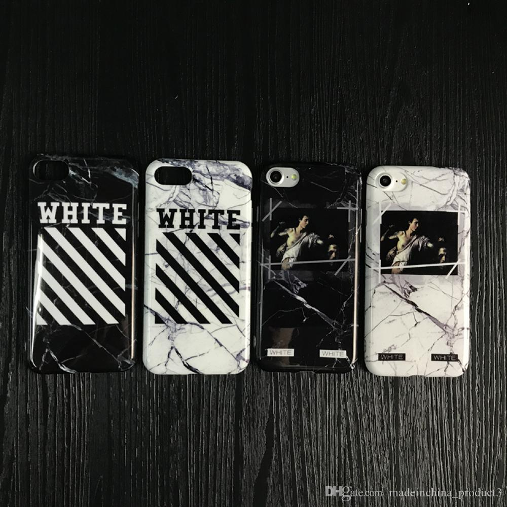 White Phone Case For Iphone 8 Plus Marble Stone Religion Virgil Abloh Soft Tpu Cover 7 6 6s Silicone Cases Cell From