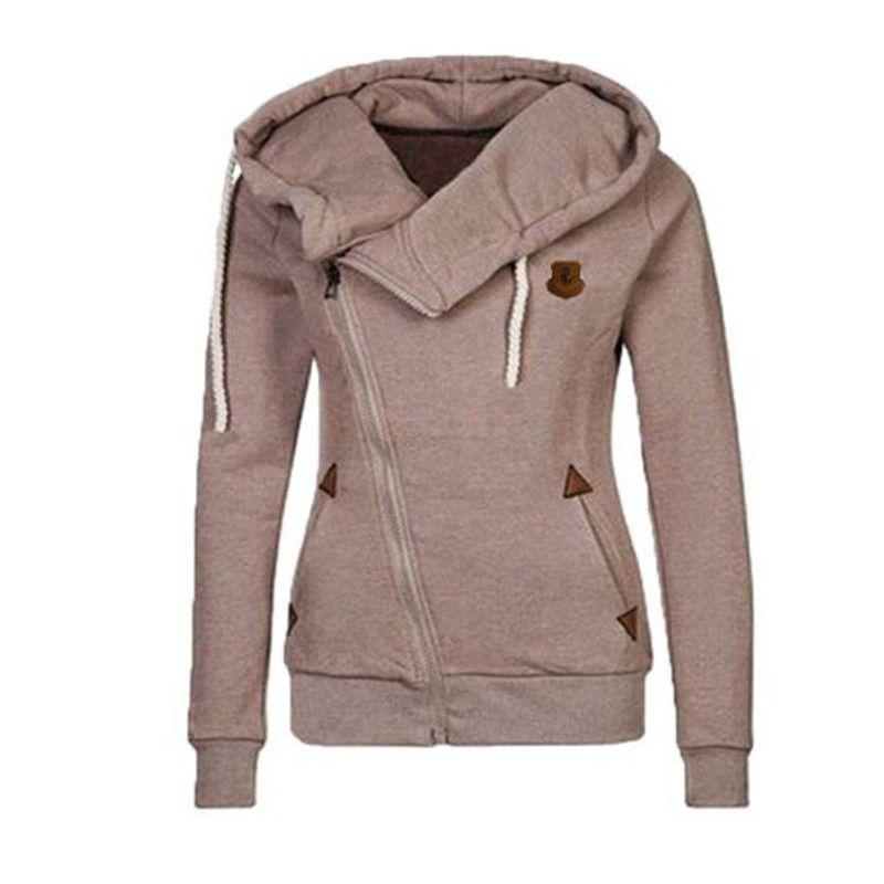 Nouveau design hoodies pour les femmes zippées à manches longues col haut vêtements pour femmes, plus la taille des femmes 'Sport Hoodies S-XXL ouc2031