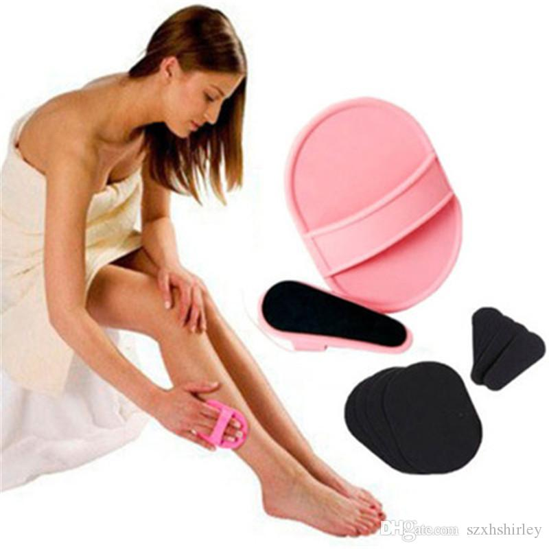 Wholesale Natural Hair Remover Face Body Hair Removal Tools Smooth Legs Skin Exfoliator Pad Mini Hair Remover