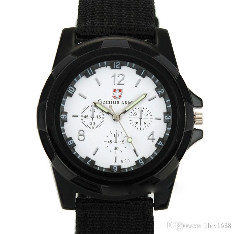 NUEVO Mens Military Sports Waches Relojes del ejército suizo Gemius para la moda masculina Reloj TRENDY Reloj de pulsera análogo de los hombres Reloj suizo militar