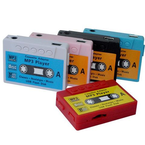 Wholesale- Hot Sale 20pcs/lot High quality mini Tape MP3 Player support Micro SD(TF) card 5 colors Free shipping