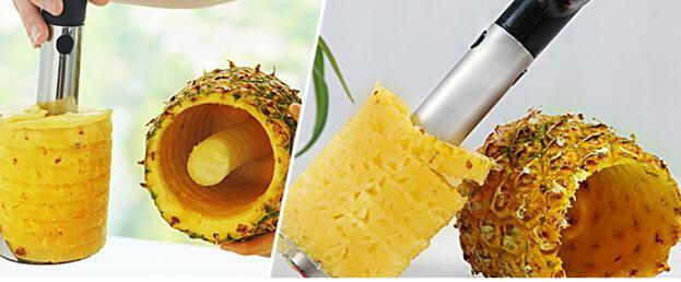 Moda Sıcak Yenilik Ev tutan paslanmaz çelik Meyve Ananas Tart Dilimleme Soyma Kesici Parer Bıçak Mutfak Aracı DHL Ücretsiz Kargo