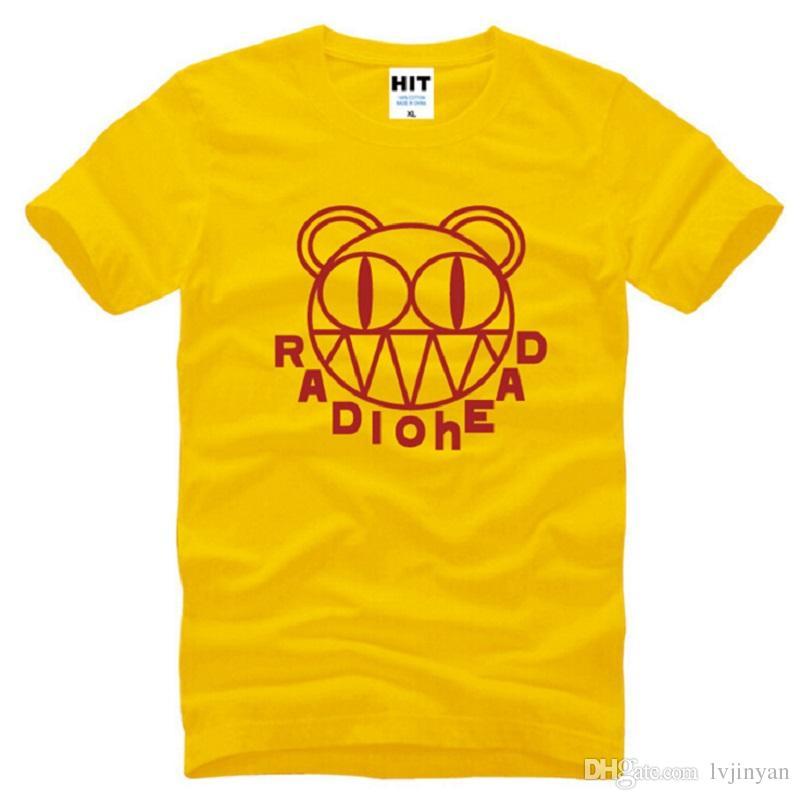 New Designer Rock Radiohead T Shirt Men Cotton Short Sleeve Punk Radiohead Printed men T-shirt Alternative Music Male Tops Tees