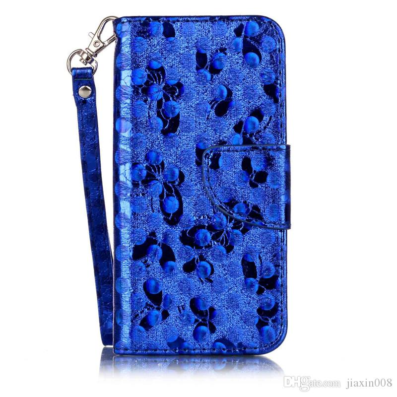 Fashion PU Leather Case For fundas iPhone 7 Cover Phone Bags Laser Carving Butterfly Wallet Stand Mobile Phone Case