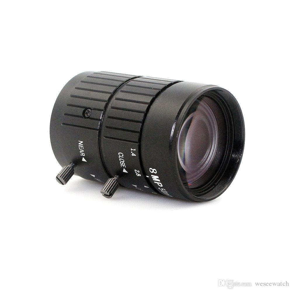 4k 8MP 1:1.4 50mm lens F1.2 Manual ITS Road Traffic Surveillance CCTV Lens C Mount for 5MP 6MP 8Megapixel HD Box Body Camera