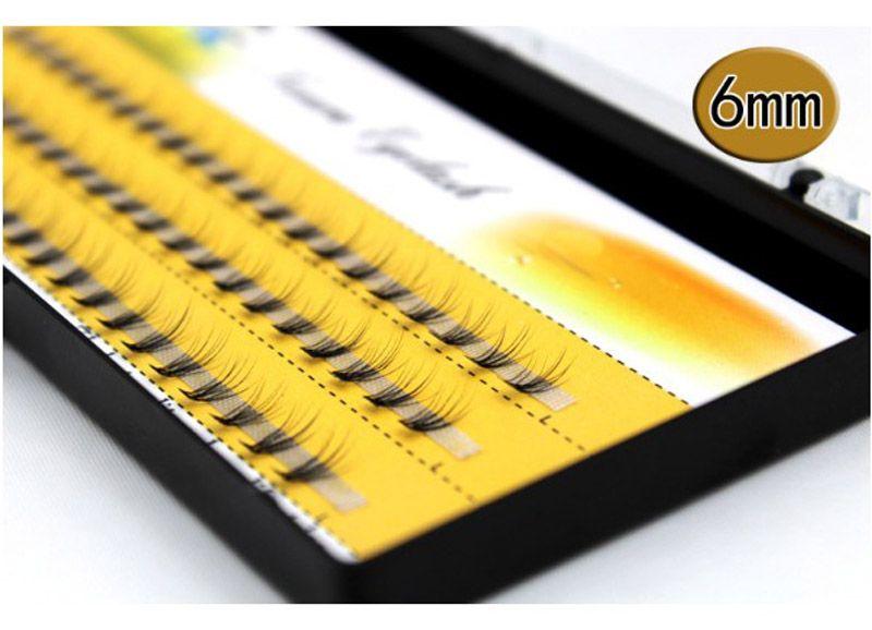 Natural C Curl 0.07mm 6-14mm Black Individual False Eyelashes Silk Eyelash Extension Design thick 10 Flares can be