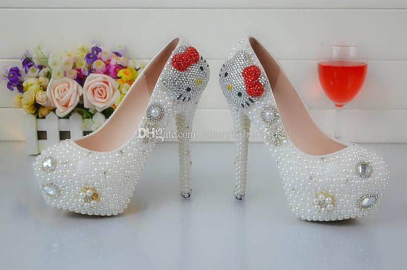 84ac4384f6 Wholesale Lovely Cinderella Shoes Prom Evening High Heels Beading ...