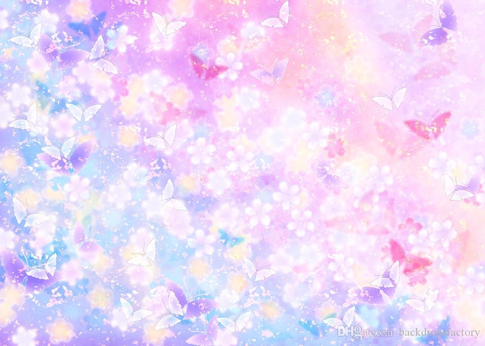 ful butterfly backdrop vinyl children kids birthday party fantasy