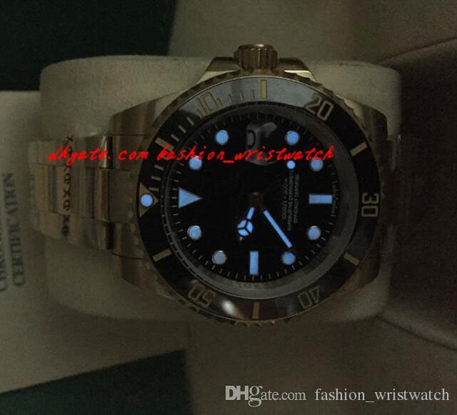 Moda Relógios De Luxo de Alta Qualidade 18k Y OURO PAPEL CERÂMICA BOX PAPEL 116618 Mens Automático Assista Relógio Dos Homens