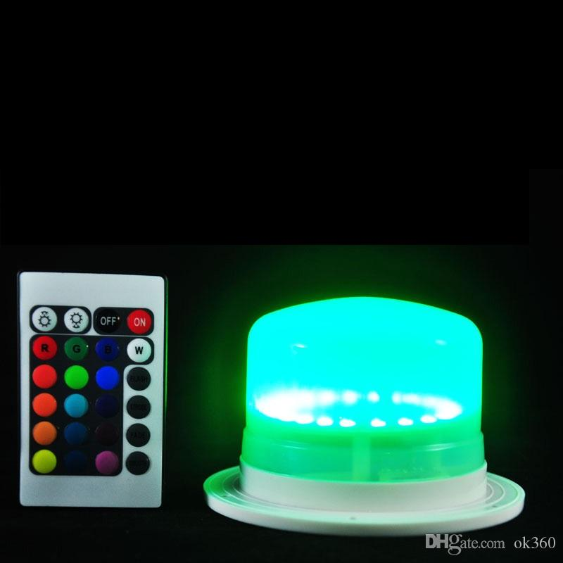 New LED Furniture Lighting Battery Rechargeable Led Bulb RGB Remote Control Waterproof IP68 Swimming Pool Lights