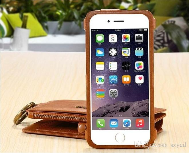 Genuine Leather Bag Multi-functional Case Leather Card Holder Wallet Stand Phone Case Cover For iPhone 6/6Plus 7/7 Plus 8 plus S8 NOTE 7