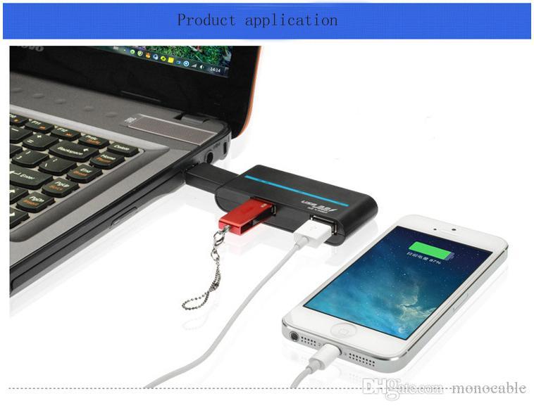 Hochgeschwindigkeits-4-Port-USB-HUB 2.0 USB-Splitter-Adapter für Notebook / Tablet PC-Peripheriegeräte