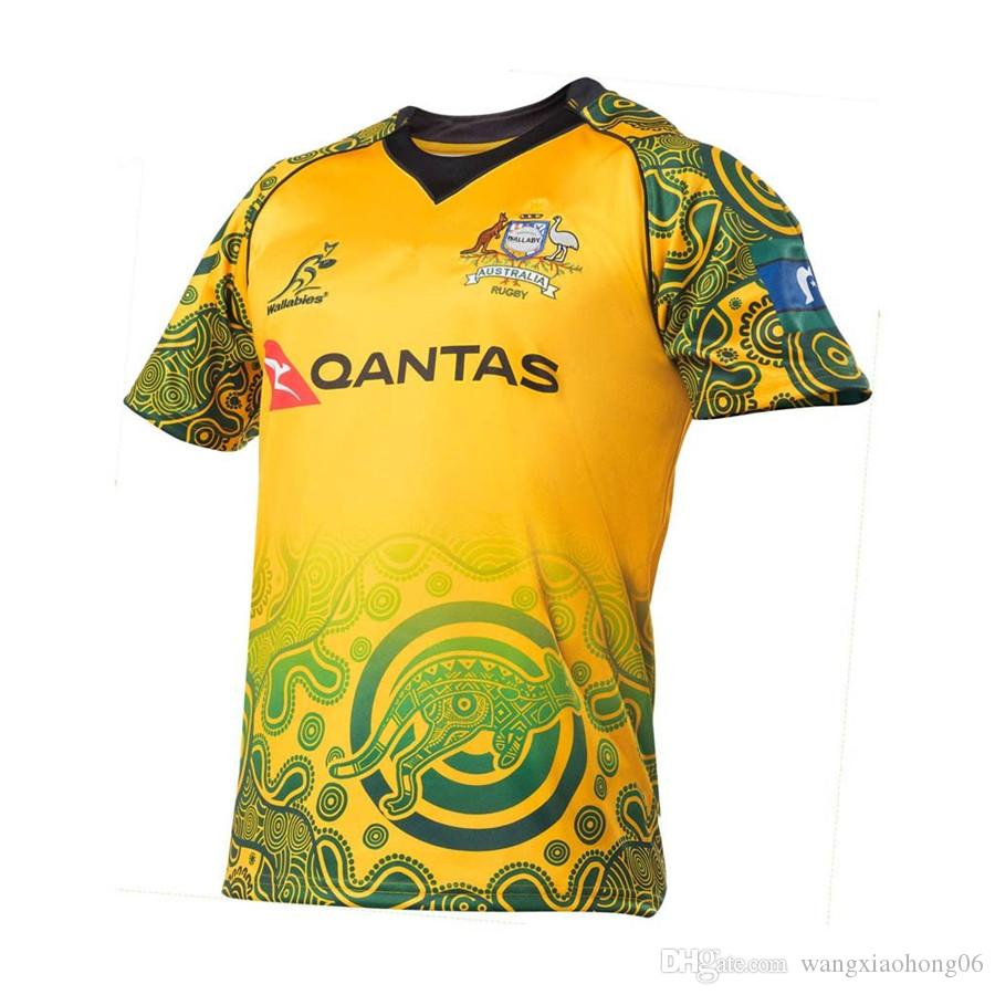 NEW Zealand Warriorsvs 2016 2017 2018 Australia Special Version Yellow  Rugby Black HOME Sydney WALLABIES 2017 INDIGENOUS JERSEY Size S-3XL  Australia Irish ...