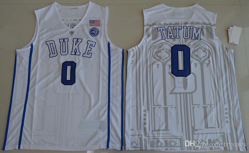 2017 Duke Blue Devils College Baloncesto Jersey 0 Jayson Tatum 1 Harry Giles Camisas 1 Kyrie Irving University Stitched Jerseys
