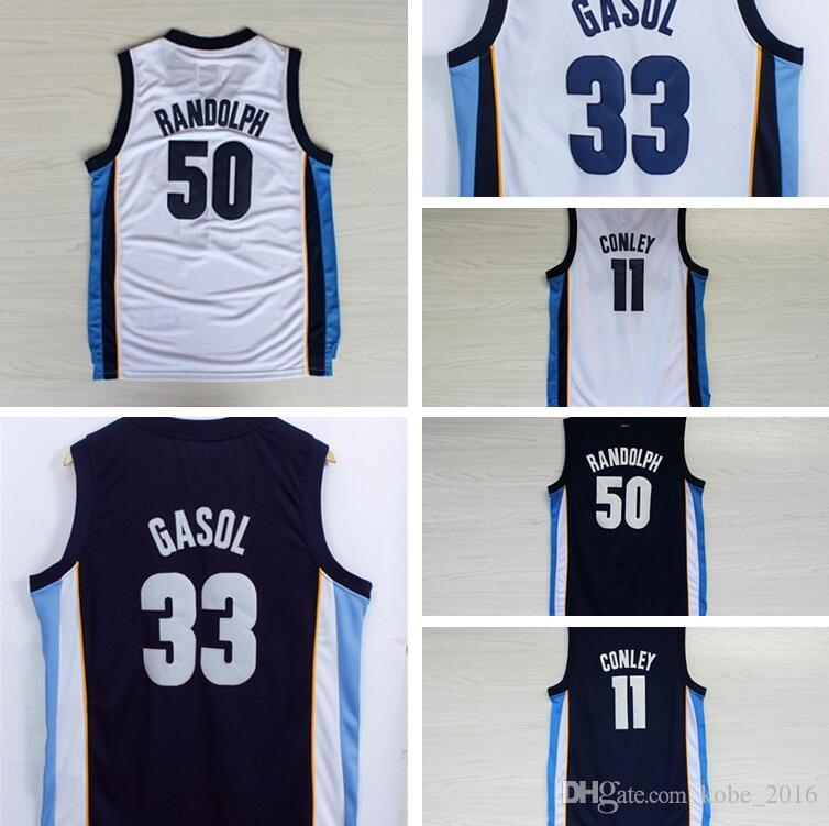 6752899533ab 2019 2017 Marc Gasol Basketball Jerseys 11 Mike Conley 50 Zach Randolph 33  Marc Gasol Navy Blue White Stitched Shirts Basketball Jersey S XXL From  Kobe 2016 ...