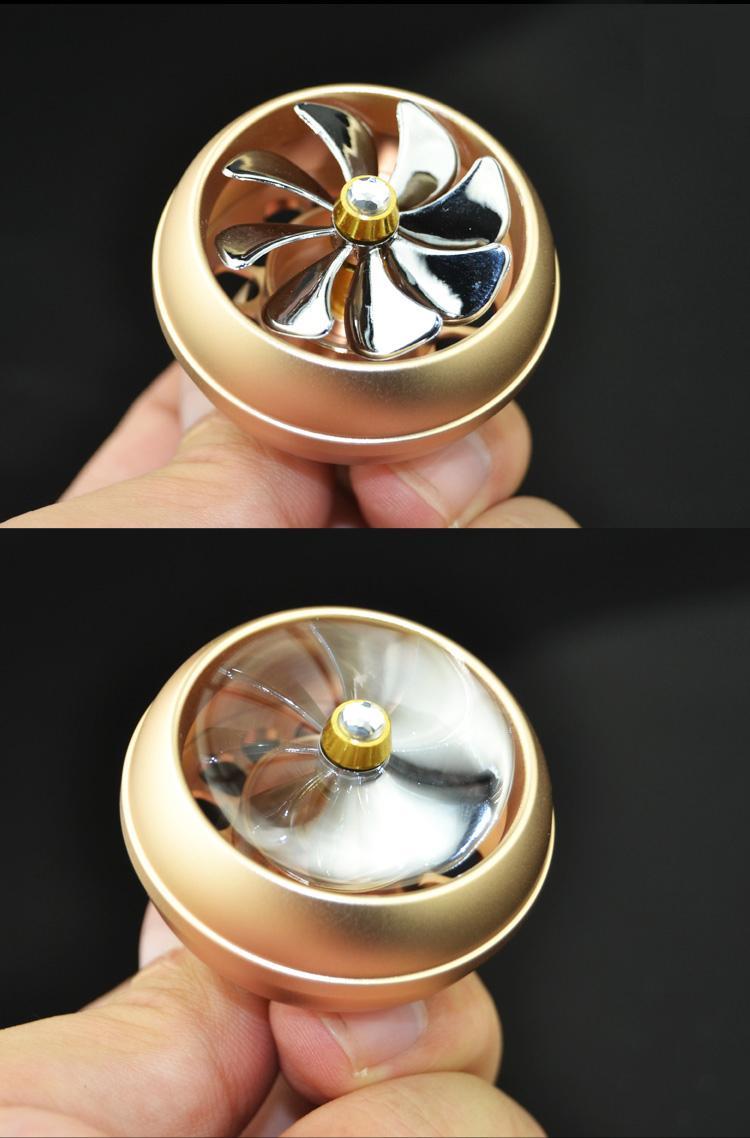 Aire acondicionado del coche de metal Salida de ventilación Clip Mini ventilador Avión Cabeza Ambientador Perfume Perfume Aromaterapia interior